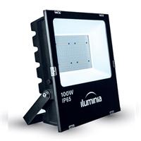 Projector LED Tango negre IP65 amb protector sobretensions 2kV. 100W 100-240Vac 4000K 120º 10715lm