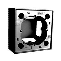 Caixa de superfície per sèrie Logus 90 negra