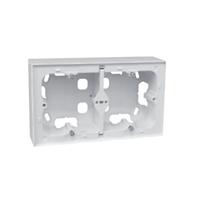 Doble caja de superficie para serie Logus 90 blanca