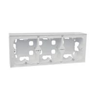 Triple caja de superficie para serie Logus 90 blanca