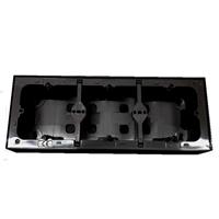 Triple caja de superficie para serie Logus 90. Negra