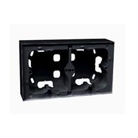 Doble caja de superficie serie Logus 90 negra