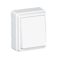 Interruptor unipolar de superfície blanco