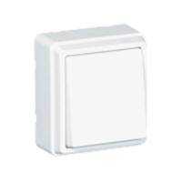Conmutador de superficie blanco