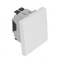 Interruptor unipolar 2 mòduls blanc.