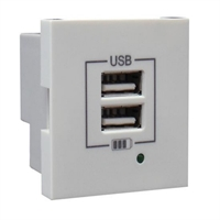 Carregador doble USB Tipus A blanc