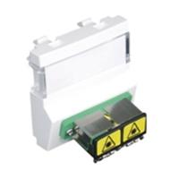 Mòdul amb adaptador connector F.O. SC APC duplex blanc
