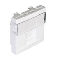 Mòdul per a connectors RJ45 1 sortida. 2 moduls. blanc