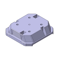Tapa de protecció per anell i mecanismes 2 mòduls. sèrie Quadro Q45