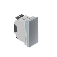Interruptor Unipolar - 1 Mòdul. Alumini