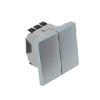 Doble interruptor 2 Mòduls Alumini