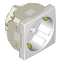Base enchufe 2P+T (Schuko) + Protección Aluminio