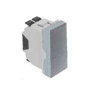 Polsador. 1 mòdul. Alumini Q45