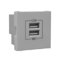 Carregador doble USB Tipus A Alumini