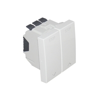 Interruptor per a persiana 2 mòduls Q45. Blanc