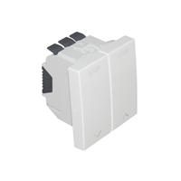 Interruptor para persiana 2 módulos Q45. Blanco