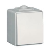 Pulsador a tecla estanco IP65 blanco