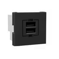 Carregador USB doble Tipus A. Gris