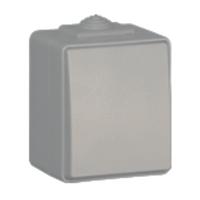 Pulsador de tecla IP65 gris