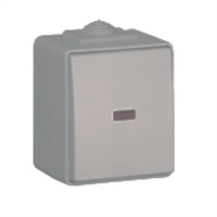Pulsador luminoso de 250V IP65 gris