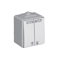 Interruptor para persianas estanco IP65 gris