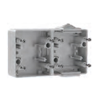 Base doble horizontal IP65 gris mecanismos Serie 48