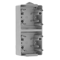 Base doble vertical IP65 gris mecanismos Serie 48