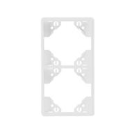Marc doble vertical blanc