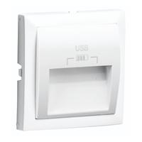 Tapa para doble cargador USB Tipo A 20º. Blanco.