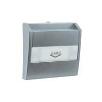 Tapa per a interruptor per a targeta Card System. Alumini