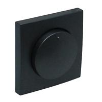 Tapa per a Regulador / Commutador de llum. Negr