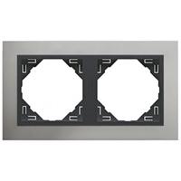 Marc doble Alumini/gris Metallo