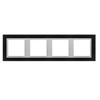 Marco cuádruple Animato negro/aluminio