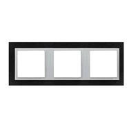 Marco triple Animato negro/aluminio