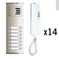 Kit audio analógico Compact S4 14 líneas