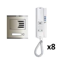 Kit Audio Compact Intercom 8 linies