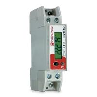 Analizador de redes eléctricas monofásico para montaje en carril DIN