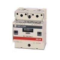 Contador de energía monofásico de conexión directa para carril DIN