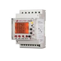 Analizador de redes eléctricas trifásicas eficiente para montaje en carril DIN
