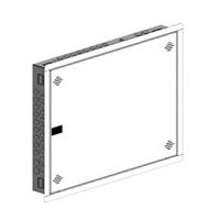 Registro Terminación Red RTR 600x500x80mm empotrable y puerta de pástico