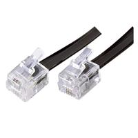 Conexión cable plano 6P4C RJ11-RJ11 2,2m Color negro.