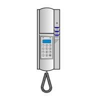 Teléfono intercomunicación interior con teclado + display
