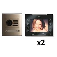 Kit vídeo digital Coaxial Color AVANT V2 negro S1 2 líneas