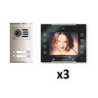 Kit vídeo digital Coaxial Color AVANT V2 negro S2 3 líneas