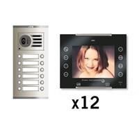 Kit vídeo digital Coaxial Color AVANT V2 negro S3 12 líneas