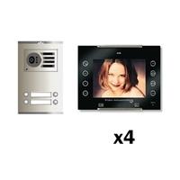 Kit video digital 6H Color AVANT V2 negro S2 4 líneas