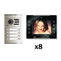 Kit video digital 6H Color AVANT V2 negro S2 8 líneas