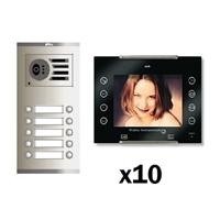 Kit video digital 6H Color AVANT V2 negro S3 10 líneas