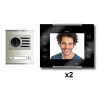 Kit video digital 6H Color AVANT INTERCOMUNICADOR negro S1 2 líneas