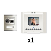 Kit video digital Coaxial Color E-Compact blanco S1 1 línea